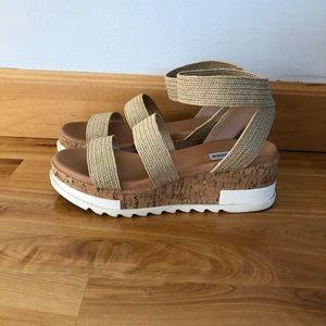 Steve Madden Bandi natural raffia sandals